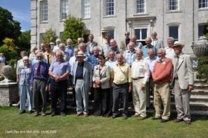 Group of people from the Kingston Maurward Association on the Kingston Maurward estate on Open Day in 2009.