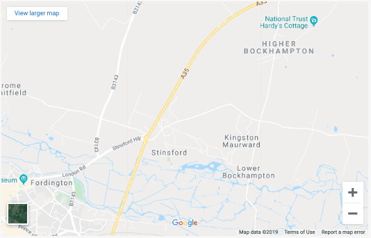 Screenshot from Google Maps of the location of Kingston Maurward