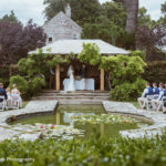 Couple getting married in the Red Garden