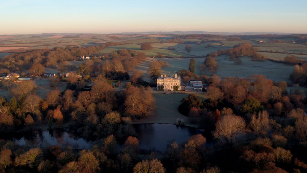 Aerial view of Kingston Maurward Main House